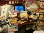 There is a desk there somewhere!