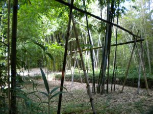 The Bamboo Gardens off to the left was a Japanese small figurene